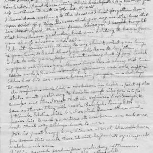 Letter from Mary Jackson to her daughter, Elizabeth Jackson, with mention of life on the farm