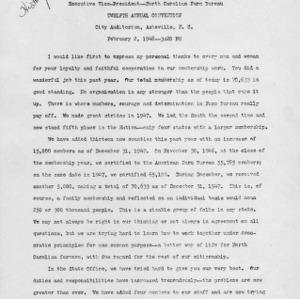Annual report of R. Flake Shaw, Executive Vice-President--North Carolina Farm Bureau, Twelfth Annual Convention, Februrary 2, 1948