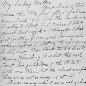 Letter from Azariah Graves Thompson, a student at North Carolina College of Agriculture and Mechanic Arts, to his mother, Dec. 3, 1905