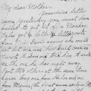 Letter from Azariah Graves Thompson, a student at North Carolina College of Agriculture and Mechanic Arts, to his mother, Dec. 14, 1905