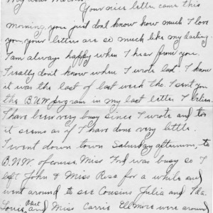Letter from Azariah Graves Thompson, a student at North Carolina College of Agriculture and Mechanic Arts, to his mother, September 18, 1906