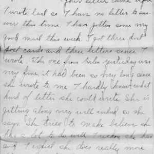 Letter from Azariah Graves Thompson, a student at North Carolina College of Agriculture and Mechanic Arts, to his mother, November 15, 1906