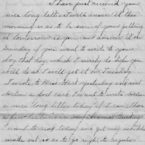 Letter from Azariah Graves Thompson, a student at North Carolina College of Agriculture and Mechanic Arts, to his mother, January 25, 1907