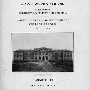An eight weeks' course and a one week's course (Agricultural and Mechanical College Record, Vol. 6 No. 3)