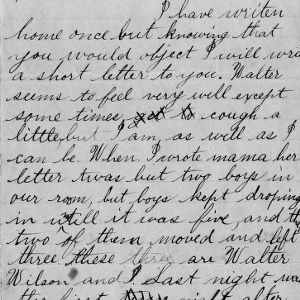 Letter from George Bullock to his sister about life at school, January 10, 1892