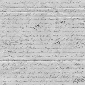 Letter from George bullock to his father about life at school, May 20, 1892