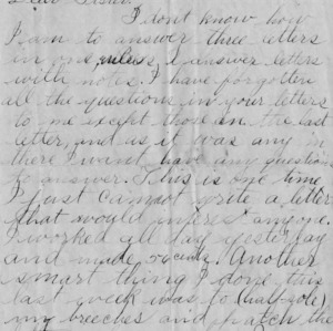 Letter from George Bullock to his sister, November 5, 1893