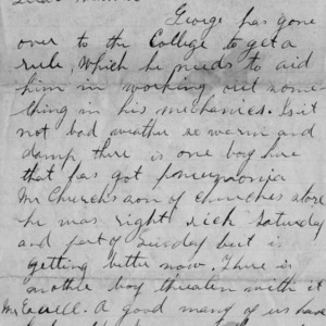Letter from Walter Bullock to his mother, January 15, 1894