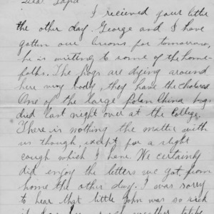 Letter from Walter Bullock to his father, April 12, 1894