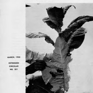 Tobacco insect control in North Carolina (Extension Circular No. 351)