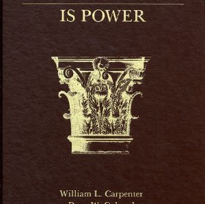 Knowledge is Power: A History of the School of Agriculture and Life Sciences at North Carolina State University, 1877-1984 by William L. Carpenter and Dean W. Colvard