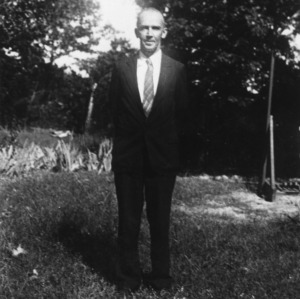 "Ralph Waldo Green overlooking part of [?] his home, ""Greenacres"""