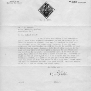 Two letters between C. A. Cobb and I. O. Schaub, 1924