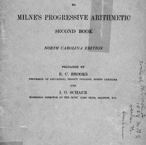 Agricultural supplement to Milne's Progressive arithmetic, second book