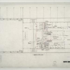 NCSU Student Center -- Basement Floor Plan and Penthouse Plan