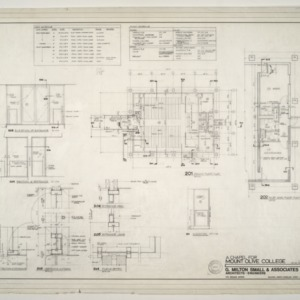 Chapel for Mount Olive College, NC -- Ground Floor Plan