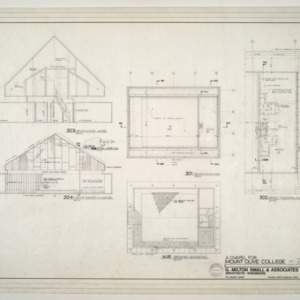 Chapel for Mount Olive College, NC -- Sections, Elevations, Second Floor and Ceiling Plans