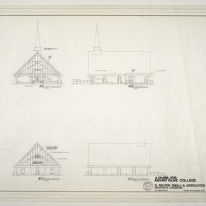 Chapel for Mount Olive College, NC -- Elevations