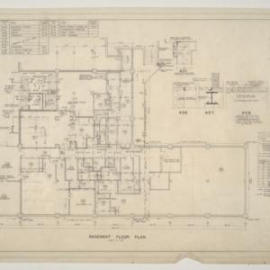 Home Security Life Insurance Building -- Basement Floor Plan