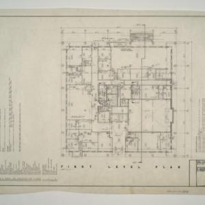 Raleigh Municipal Building -- First Level Plan