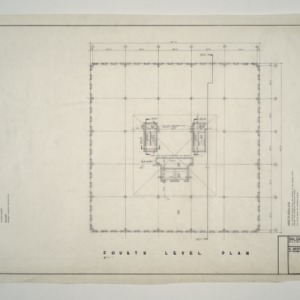 Raleigh Municipal Building -- Fourth Level Plan