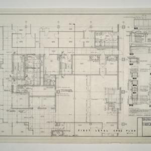 Raleigh Municipal Building -- First Level Core Plan