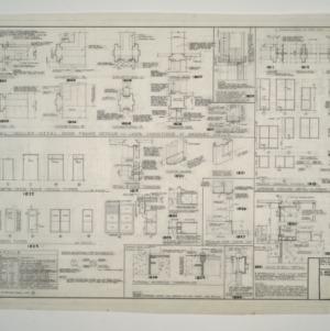 Raleigh Municipal Building -- Door Frame Details, Door Schedule, Frame Design Types