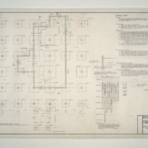 Raleigh Municipal Building -- Foundation Plan