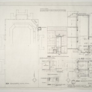Alterations Made to William Neal Reynolds Coliseum -- Concourse Level Plan and Elevator Details