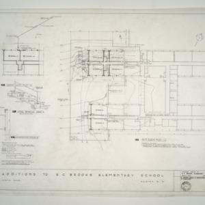 E. C. Brooks Elementary School, Classroom Additions -- Main Floor Plan