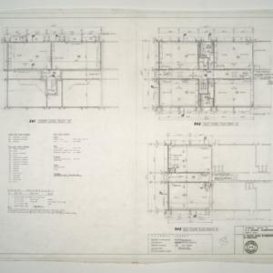 E. C. Brooks Elementary School, Classroom Additions -- Lower Level Plan, Main Floor Front & Rear Plans