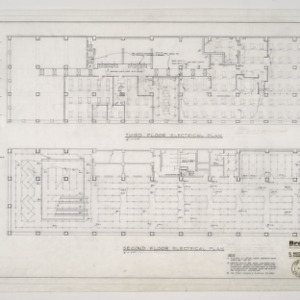 Branch Banking and Trust Company -- Electrical Plans for Second and Third Floors