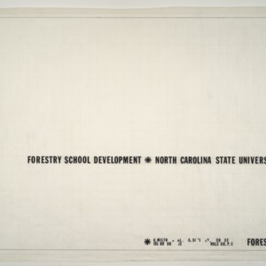 NCSU Forestry School -- Title Page