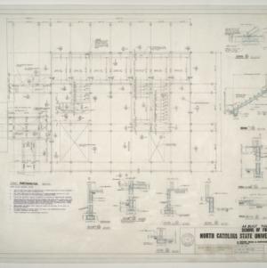 NCSU Forestry School -- First Floor Framing Plan