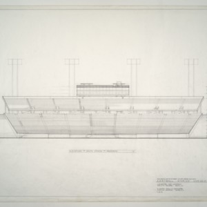 Carter Stadium -- Elevation of South Stands and Pressbox