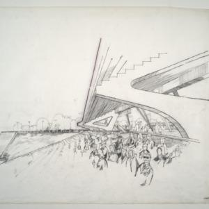 Carter Stadium -- Carter Stadium drawing - Inside Stadium - Stands