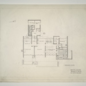 NC State College Fraternity Housing -- Ground Floor Plan - Kappa Sigma House