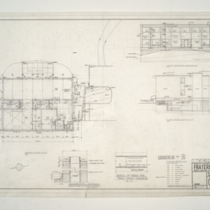 NC State College Fraternity Housing -- Ground Floor Plan - House #2