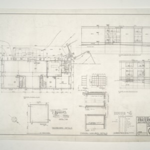 NC State College Fraternity Housing -- Ground Floor Plan - House #4