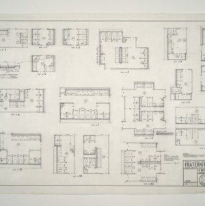 NC State College Fraternity Housing -- Bathroom Plans, Houses 1-12