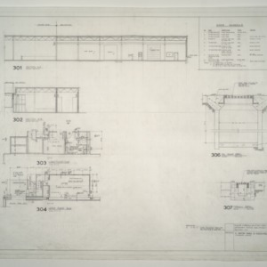 Gregory-Poole Equipment Co. Sales and Service Building Addition -- Lower and Upper Floor Plan