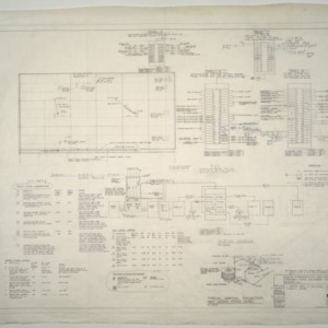 Gregory-Poole Equipment Co. Sales and Service Building Addition -- Heater Piping Detail and Wiring Diagram