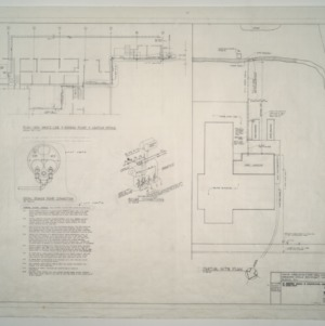 Gregory-Poole Equipment Co. Sales and Service Building Addition -- Waste Line, Sewage Pump, Heating Piping Plan
