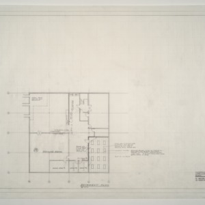 Gregory-Poole Equipment Co. Sales and Service Building Addition -- Basement Plan - Classroom Addition