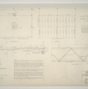 Gregory-Poole Equipment Co. Sales and Service Building Addition -- Floor and Foundation Plan