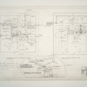 National Headquarters for American Association of Textile Chemists and Colorists -- Ground and Main Floor Plumbing Plan