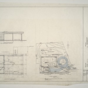 A. L. Rothstein Residence -- Plot Plan and Carport Plan