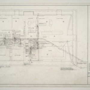 A. L. Rothstein Residence -- Heating and Air Conditioning Plan