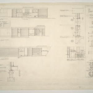 Mr. and Mrs. Glen Bowers Residence -- West, South, and East Elevations Typical Details of Existing House