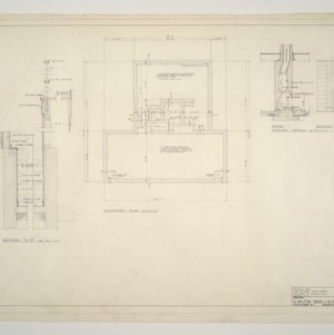 B. W. Smith Residence -- Foundation Plan and Fireplace Details